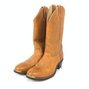 Western Wear Leather Cowboy Boots 9.5
